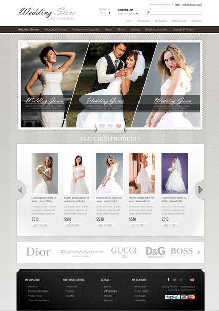 Wedding Store Website Design