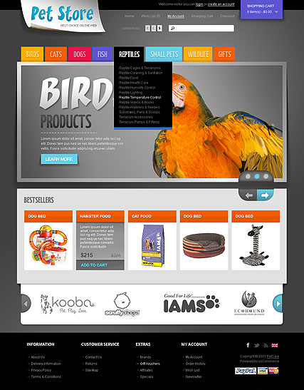 Pet Store Website Design
