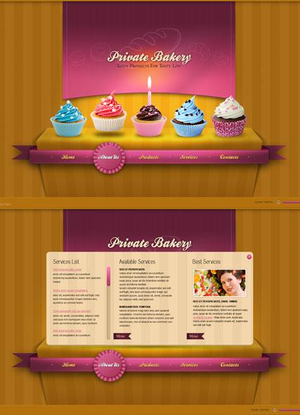 Private Bakery Website Design