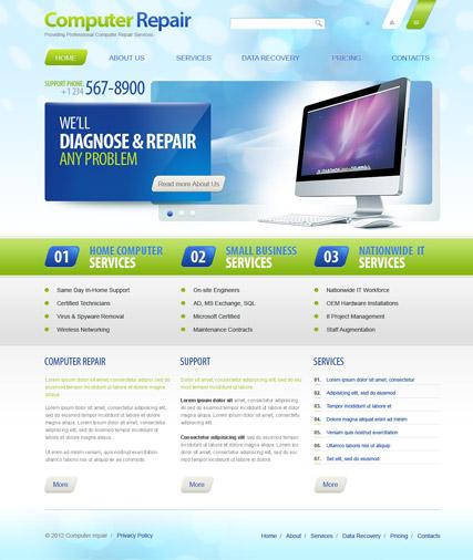 Computer Repair v2.5 Website Design