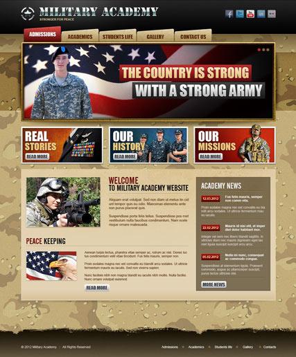 Military Academy v2.5 Website Design