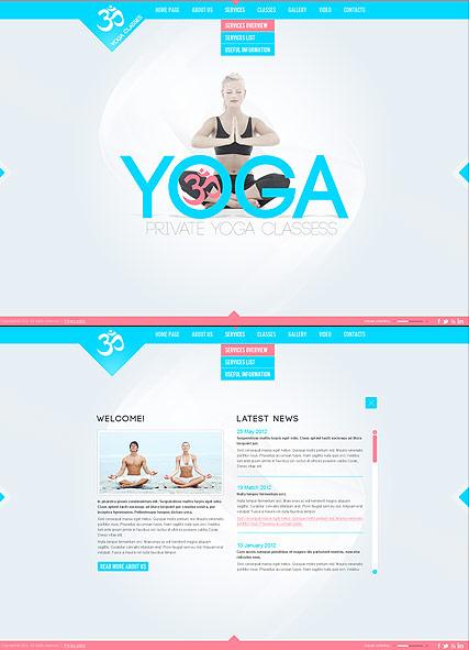 yoga classes dynamic html5 template