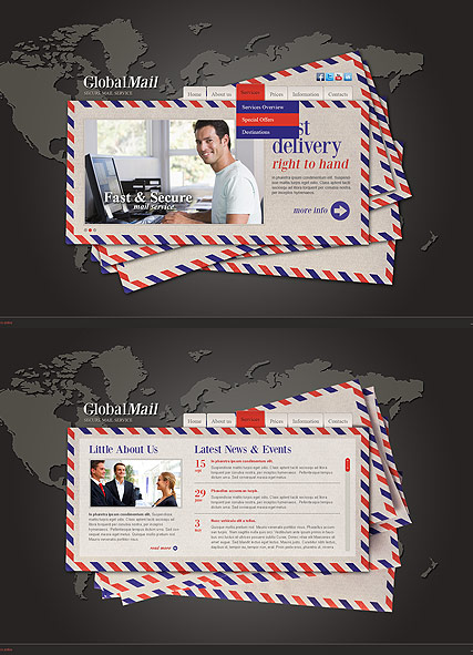 Global Mail Website Design