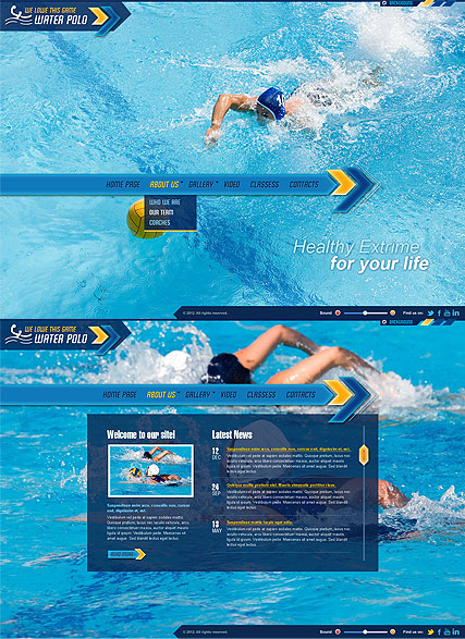 Water Polo Website Design