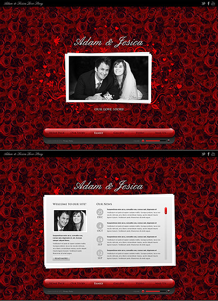 Love Story Website Design