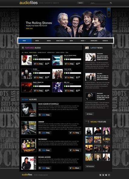 Stock Music v2.5 Website Design