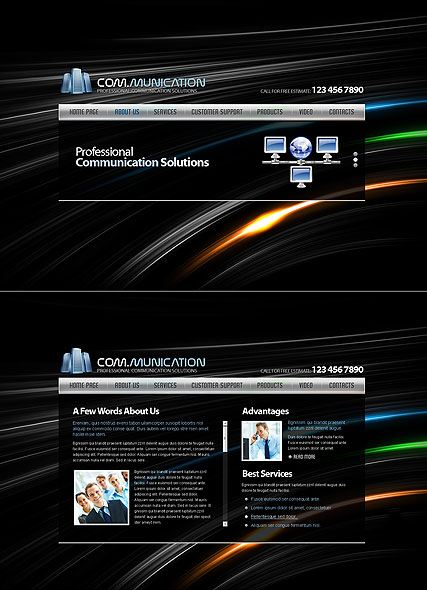 Communications Website Design