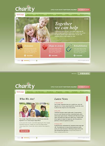 Children Charity Website Design