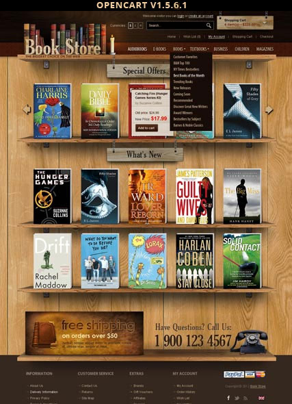 Book Store Website Design