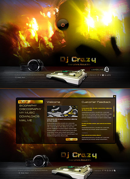 DJ Music Website Design