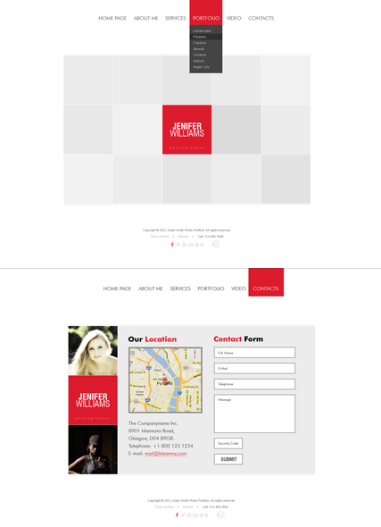 White square Website Design