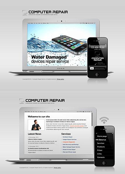 Gadgets Repair Website Design