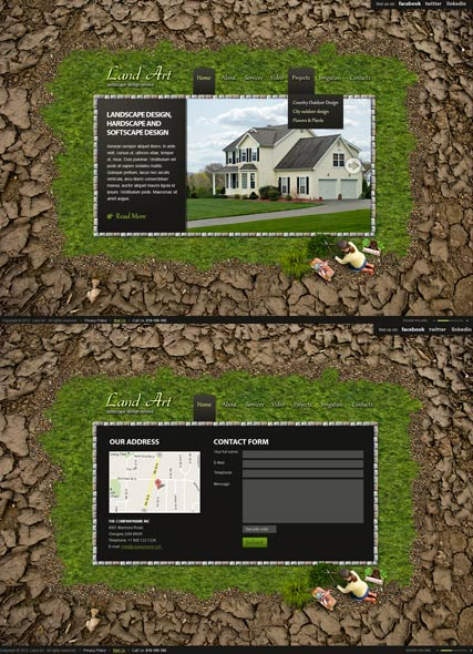 Land Art Website Design