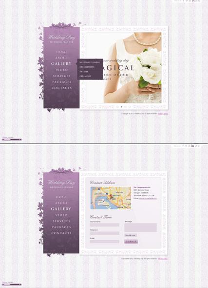 Wedding planer Website Design