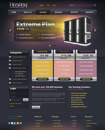 Web hosting v2.5 Website Design