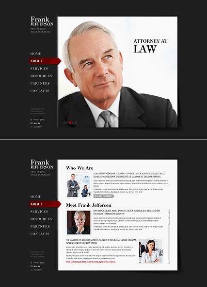 Private Lawyer Website Design