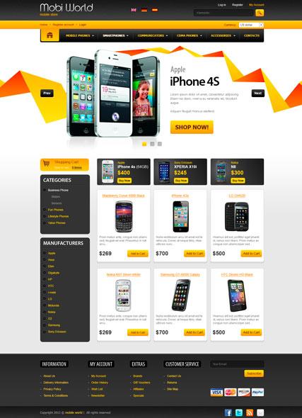 Mobi World v2.3 Website Design
