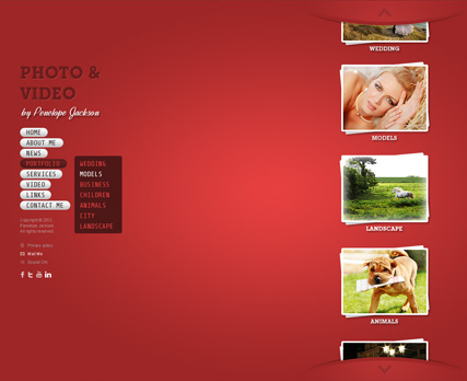 Photo and Video Website Design