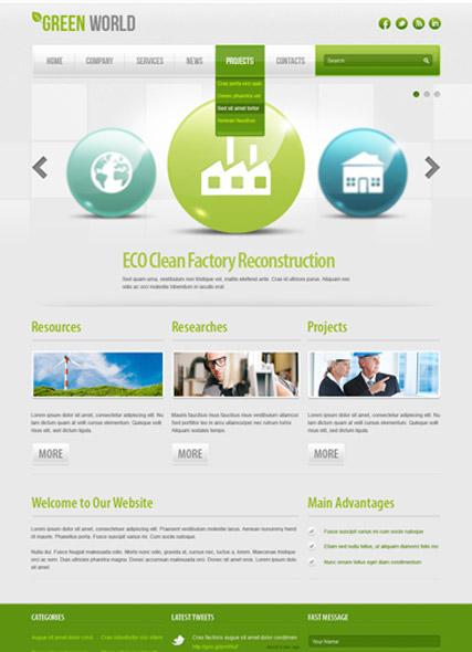 Green energy v2.5 Website Design