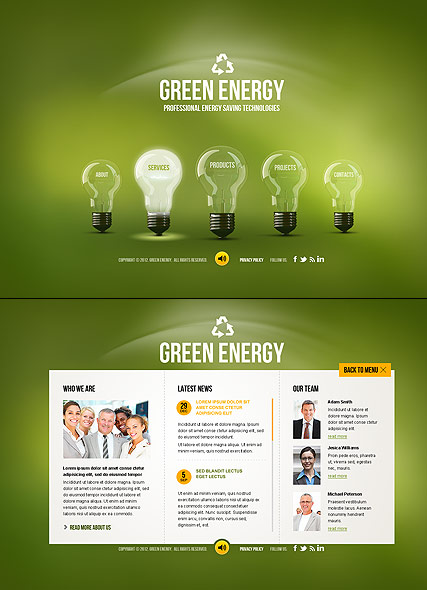 Green Energy Website Design