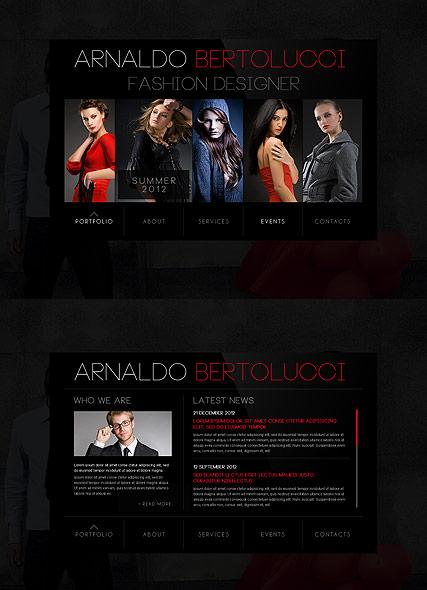 Fashion Designer Website Design