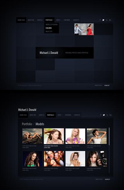 Black folio Website Design