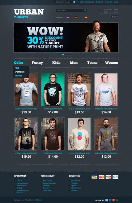 T-Shirts Website Design