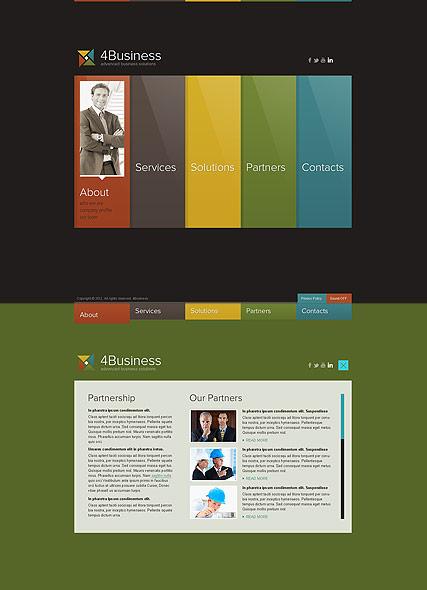 Color Business Website Design