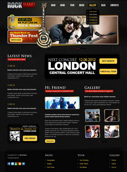 rock band v2 5 joomla theme download. Black Bedroom Furniture Sets. Home Design Ideas