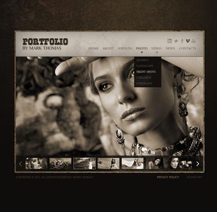 Photographer Website Design