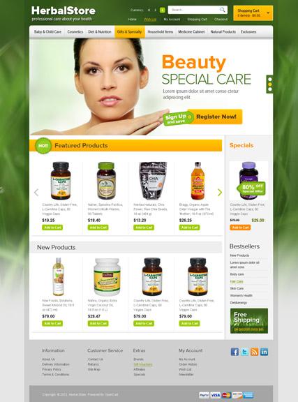 Herbal Website Design