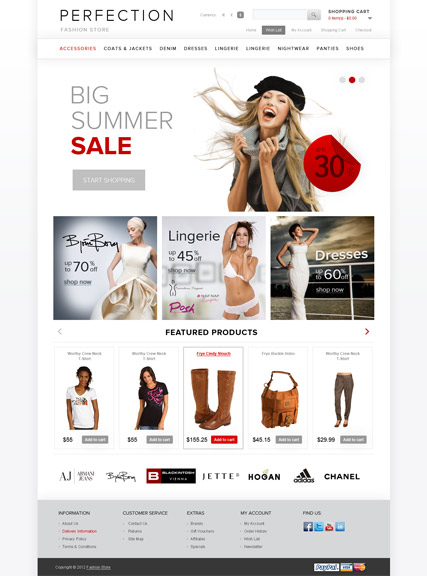 Clothes Website Design