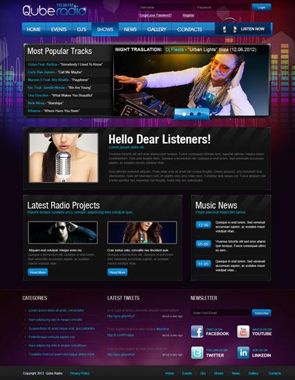 Radio ST v2.5 Website Design