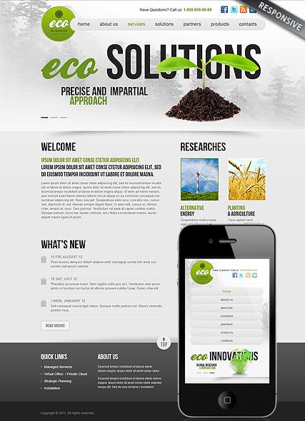 Ecology Business Website Design