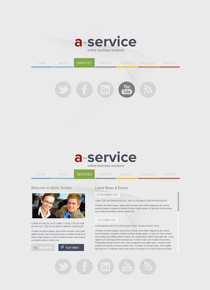 Alpha Service Website Design
