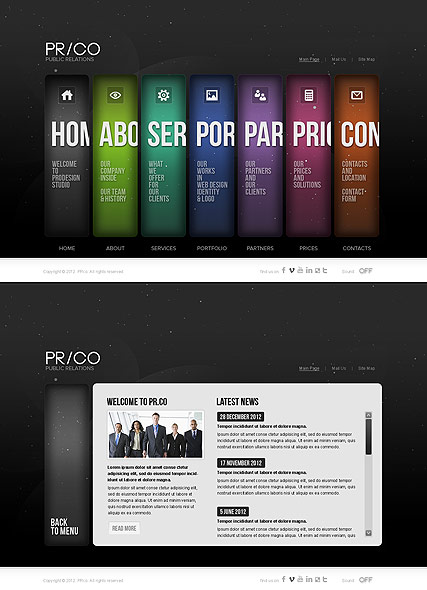 Public Relations Website Design