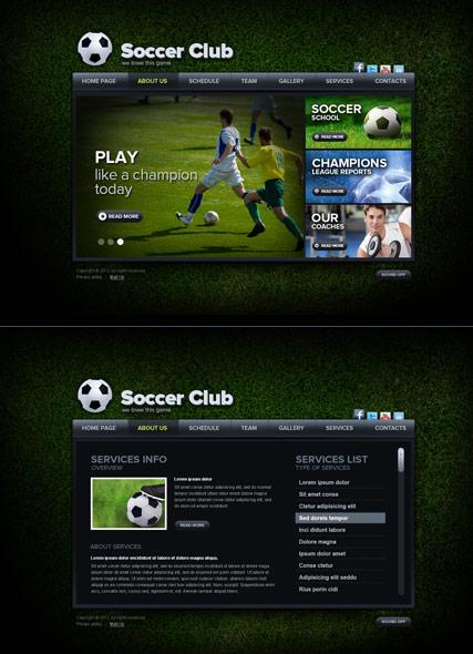 Soccer Club Website Design