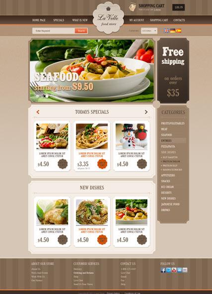 Food Store v2.3 Website Design
