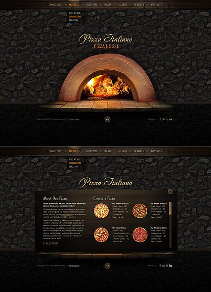 Pizza Italiano Website Design