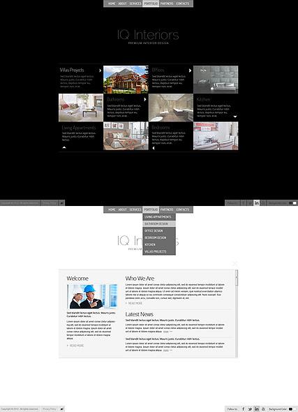 Black White Interior Website Design