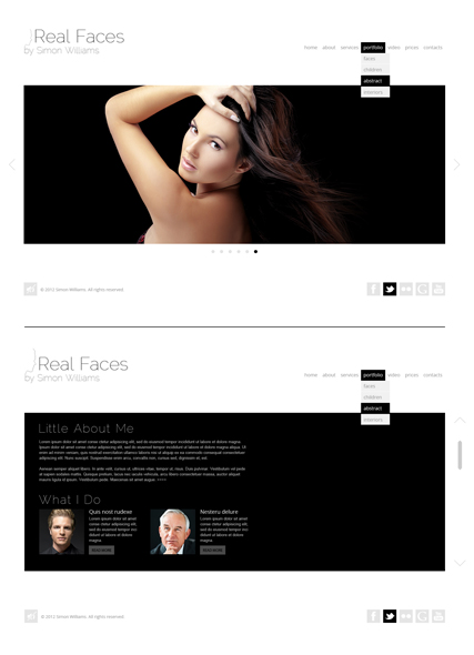 Real Faces Website Design