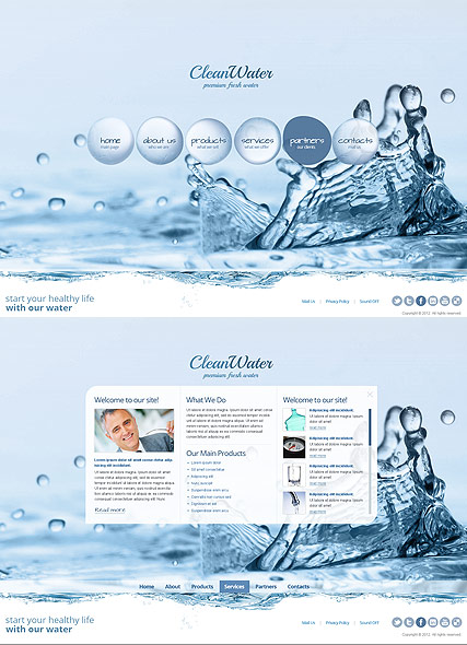 Clean Water Website Design