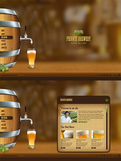 Beer Company Website Design