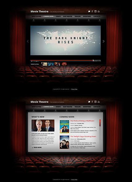 Movie Theatre Website Design