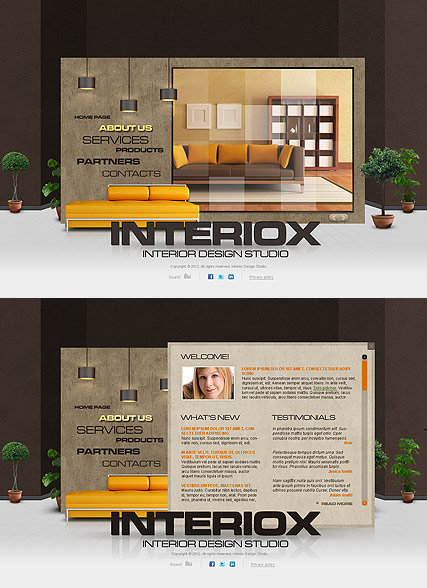 Interior Studio Website Design