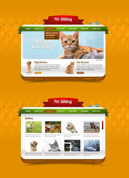 Pet Care Website Design