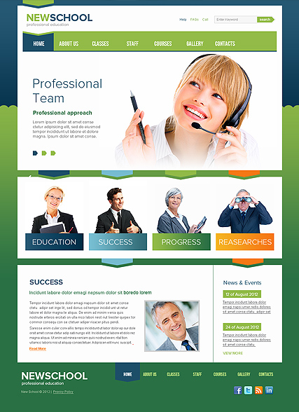 New School Website Design