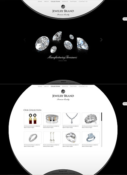 Jewelry Brand Website Design