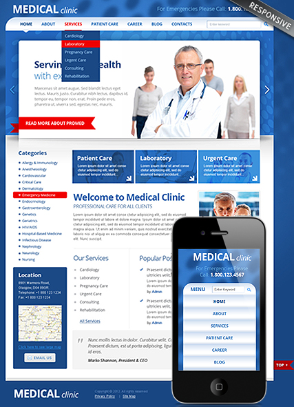 Medical Clinic Website Design