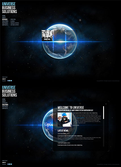 Universe Business Website Design